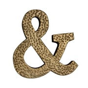 Cheungs Metal Ampersand Symbol w/ Hammered Accents Wall D cor
