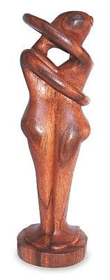 Novica Handmade Romantic Wood Sculpture