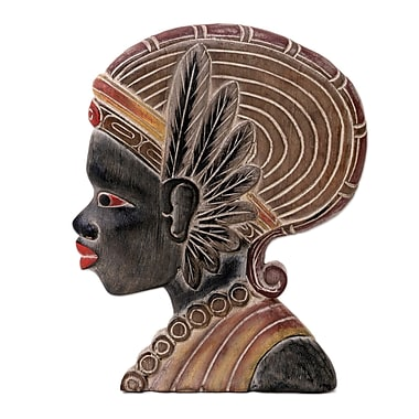 Novica Papua Woman Wood Relief Panel Wall D cor