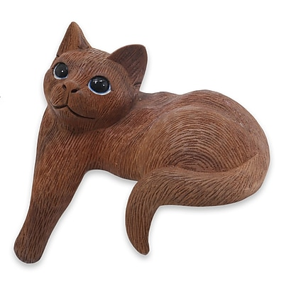Novica Cat Figurine