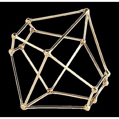 GLDG Polyhedron Tablescape Sculpture; 7.5'' H x 8.5'' W x 8.5'' D