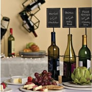 The Gerson Companies Chalkboard Labels 3 Bottle Tabletop Wine Bottle Rack