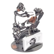 H & K SCULPTURES Dentist Nuts and Bolts Business Card  Holder