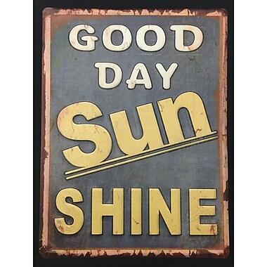 Creative Motion Decorative Metal Plate in Good Day Sun Shine