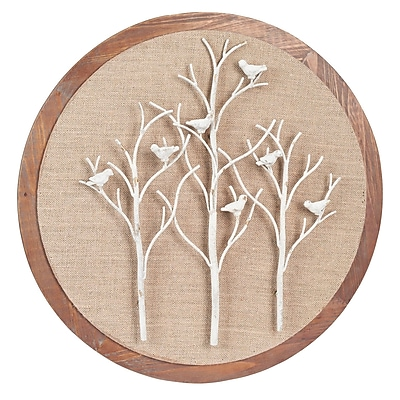 Household Essentials Round Tree and Bird Wall D cor