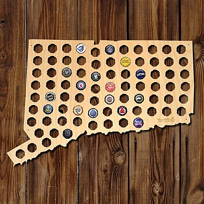 Home Wet Bar Connecticut Beer Cap Map Wall D cor