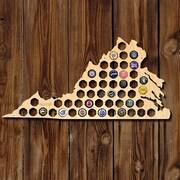 Home Wet Bar Virginia Beer Cap Map Wall D cor