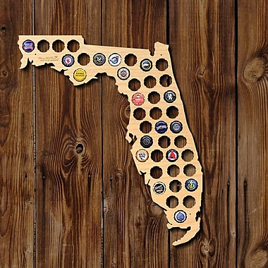 Home Wet Bar Florida Beer Cap Map Wall D cor