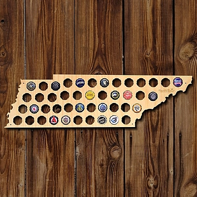 Home Wet Bar Tennessee Beer Cap Map Wall D cor