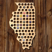Home Wet Bar Illinois Beer Cap Map Wall D cor