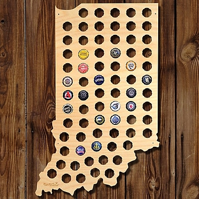 Home Wet Bar Indiana Beer Cap Map Wall D cor