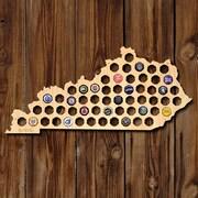 Home Wet Bar Kentucky Beer Cap Map Wall D cor