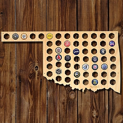 Home Wet Bar Oklahoma Beer Cap Map Wall D cor