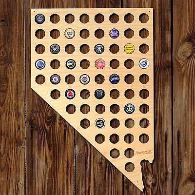 Home Wet Bar Nevada Beer Cap Map Wall D cor