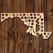 Home Wet Bar Maryland Beer Cap Map Wall D cor