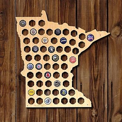 Home Wet Bar Minnesota Beer Cap Map Wall D cor