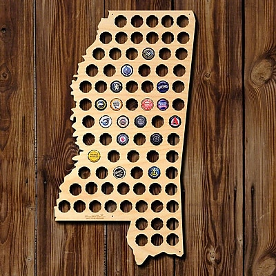 Home Wet Bar Mississippi Beer Cap Map Wall D cor
