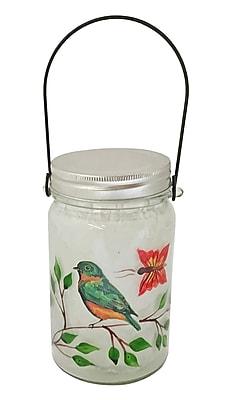 Creative Motion Bird Glass 15 Light LED Decorative Light w/ handle