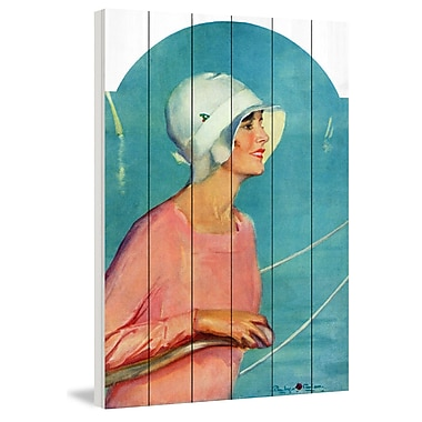 Marmont Hill 'Sailing Attire' Painting Print on White Wood; 36'' H x 24'' W x 1.5'' D