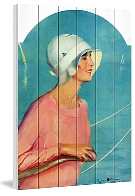 Marmont Hill 'Sailing Attire' Painting Print on White Wood; 45'' H x 30'' W x 1.5'' D