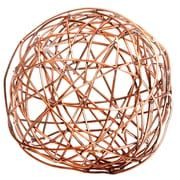 Home Essentials and Beyond Copper Crazy Weave Orb Sculpture; 5'' H x 5'' W x 5'' D