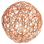 Home Essentials and Beyond Copper Crazy Weave Orb Sculpture; 7'' H x 7'' W x 7'' D