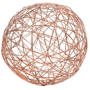 Home Essentials and Beyond Copper Crazy Weave Orb Sculpture; 9'' H x 9'' W x 9'' D