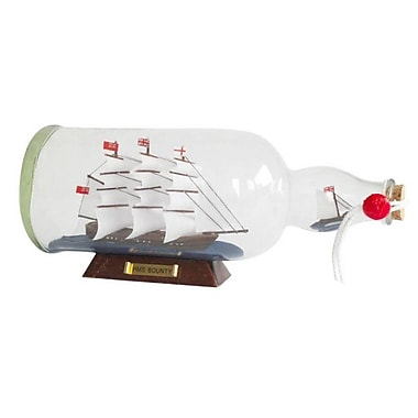 Handcrafted Nautical Decor HMS Bounty Model Ship in a Glass Bottle