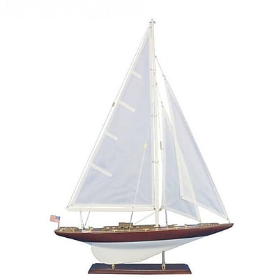 Handcrafted Nautical Decor Wooden William Fife Decoration Model Sailboat
