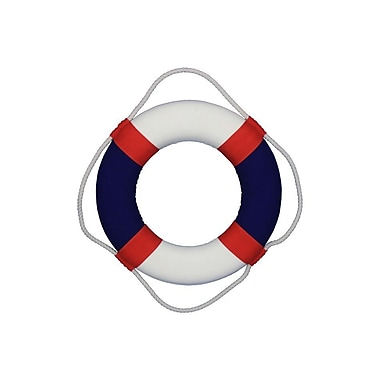 Handcrafted Nautical Decor American Decorative Lifering Wall D cor; 15'' H x 15'' W x 2'' D