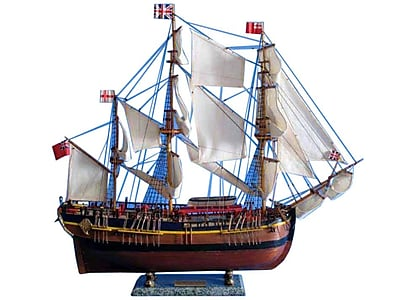 Handcrafted Nautical Decor HMS Endeavour 30'' Wooden Limited Model Ship