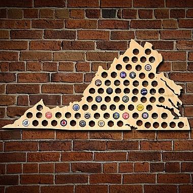 Home Wet Bar Giant XL Virginia Beer Cap Map Wall D cor