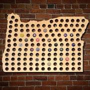 Home Wet Bar Giant XL Oregon Beer Cap Map Wall D cor