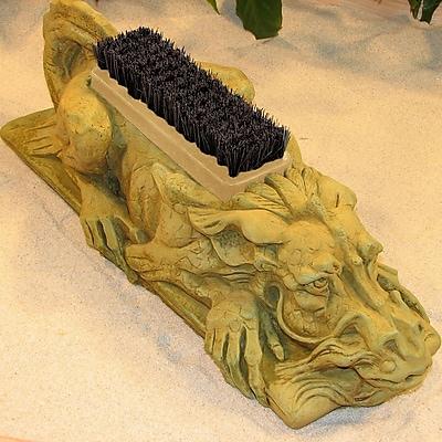 NicholsBrosStoneware Dragon Bootbrush Statue; Terra Cotta