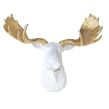 Near and Deer Head Faux Taxidermy Moose Wall D cor