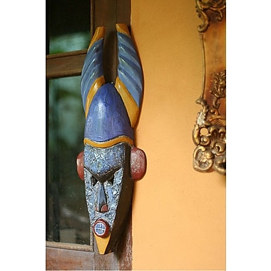 Novica Courageous Warrior Ghanaian Mask Wall D cor