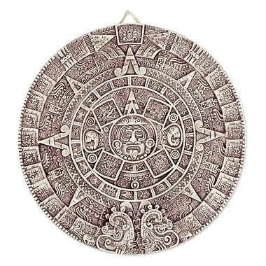 Novica Aztec Calendar Ceramic Plaque Museum Replica Handmade Wall D cor