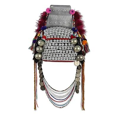 Novica Timeless Muse II Traditional Hill Tribe Akha Headdress Wall D cor
