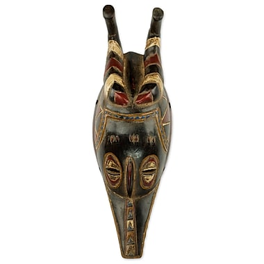 Novica African Guro Zamble I Wood Mask Wall D cor