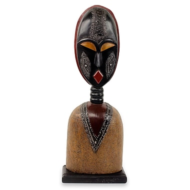 Novica Togbe African Tribal Chief Wood