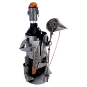 H & K SCULPTURES Fisherman Big Fish Wine Candy Bottle