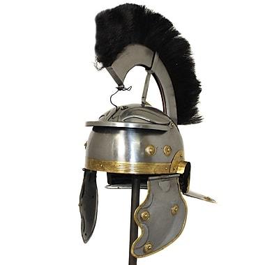EC World Imports Antique Replica Roman Centurion Black Plume Galea Helmet