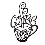 BayAccents Metal Coffee Cup Wall D cor