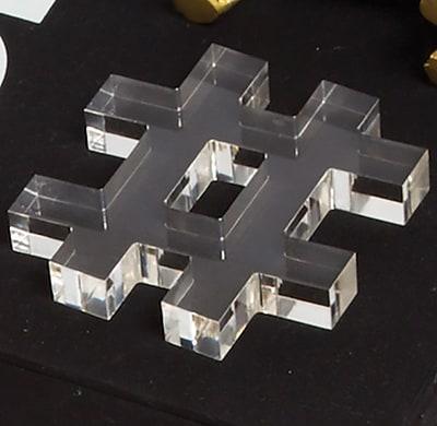8 Oak Lane 3 Piece Decorative Acrylic Letter Block Set