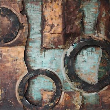 Empire Art Direct ''Revolutions 1'' Mixed Media Iron Hand Painted Dimensional Wall D cor
