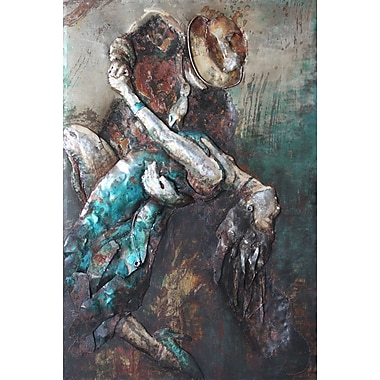 Empire Art Direct ''Ballroom Dancers'' Mixed Media Iron Hand Painted Dimensional Wall D cor