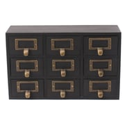 Kate and Laurel Desktop Solid Wood Apothecary Decorative Box