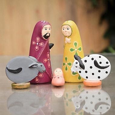 Novica Alberto Aparicio Canchari 5 Piece Artisan Crafted Ceramic Nativity Scene Set