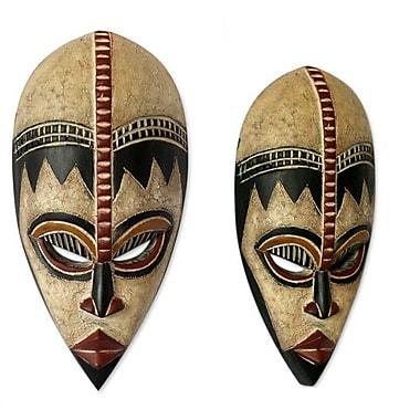Novica Abdul Aziz Mohamadu Protect My Baby Nigerian Wood Mask Wall Decor