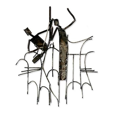 Novica Goje Dancer Recycled Iron Sculpture Wall D cor